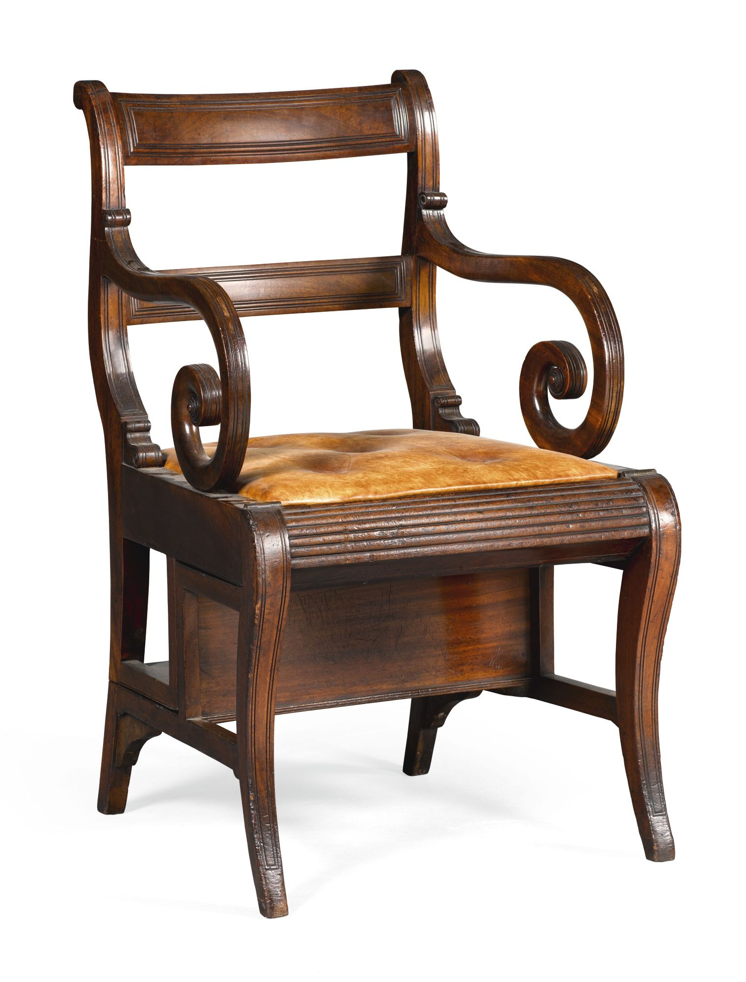 A Regency mahogany metamorphic library chair circa 1810