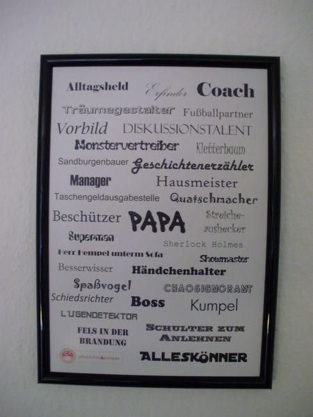 digitaldruck wortgewaltiges din a4 poster f r den papa. Black Bedroom Furniture Sets. Home Design Ideas