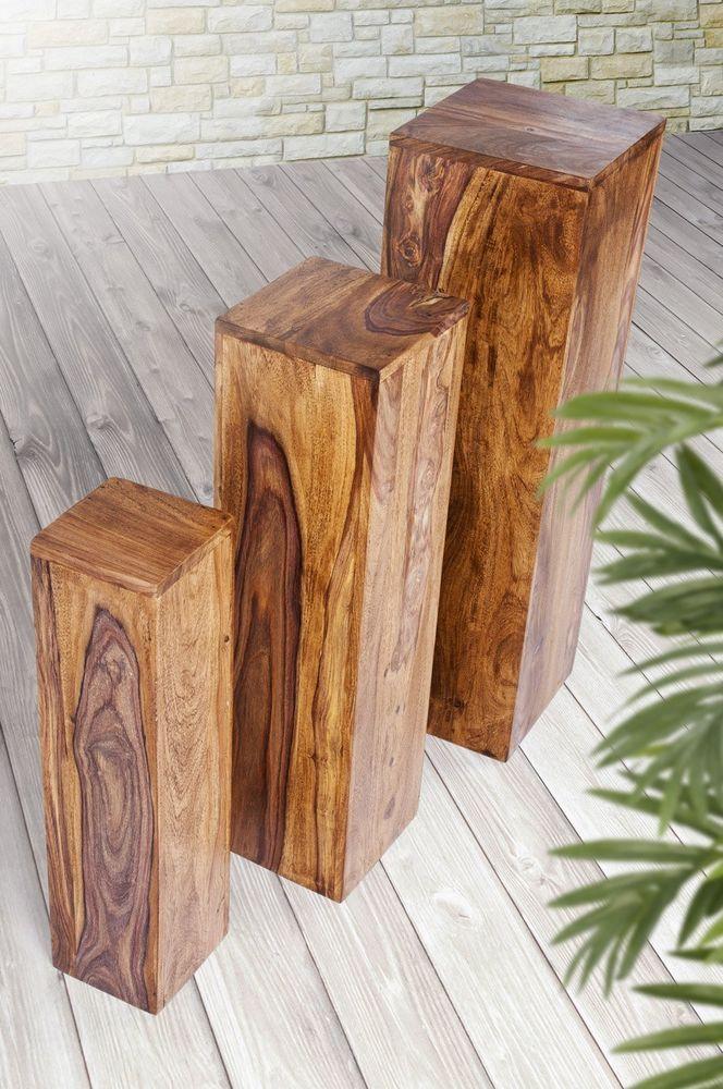 statue blumens ule 25x25x85 blumenst nder dekos ule holzs ule podest palisander m bel wohnen. Black Bedroom Furniture Sets. Home Design Ideas