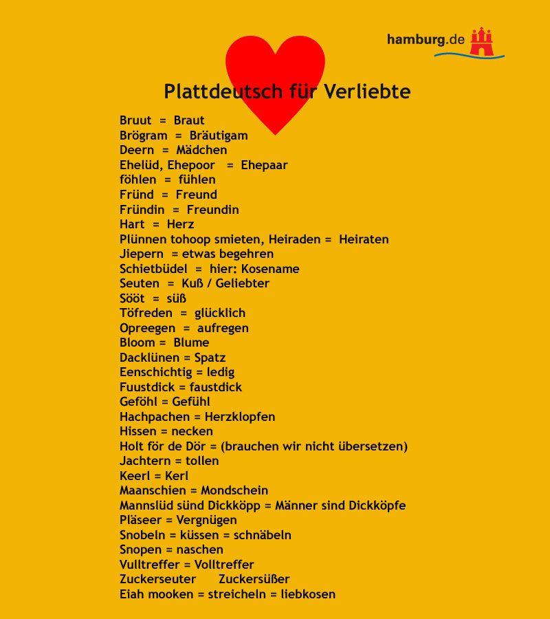 Plattdeutsche Kosenamen