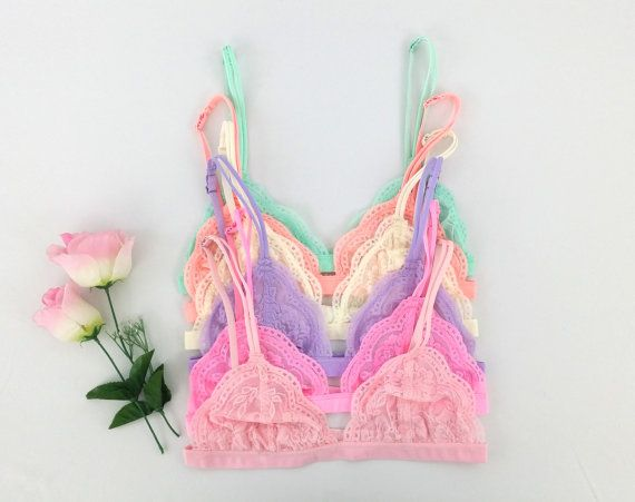 29a706ae6a Floral Lace Triangle BRALETTE Bra Bustier crop top unpadded Mesh Lined lacy bralette  lace bralette triangle bralette scallop bralettes