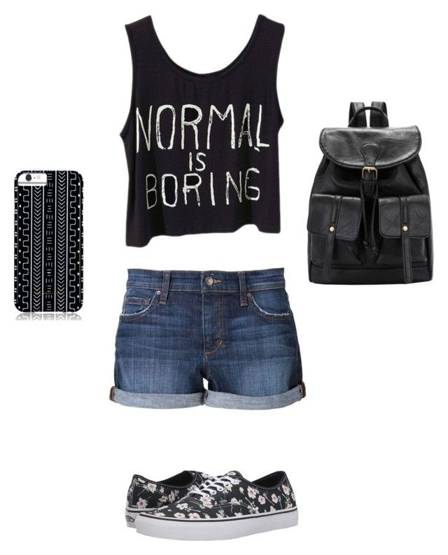 """NOT normal!"" by julia262003 ❤ liked on Polyvore featuring Joe's Jeans, Vans and Savannah Hayes"