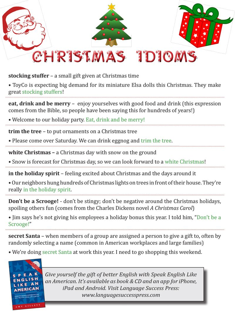 christmas idioms to get you in the holiday spirit english phrases english idioms - Christmas Idioms