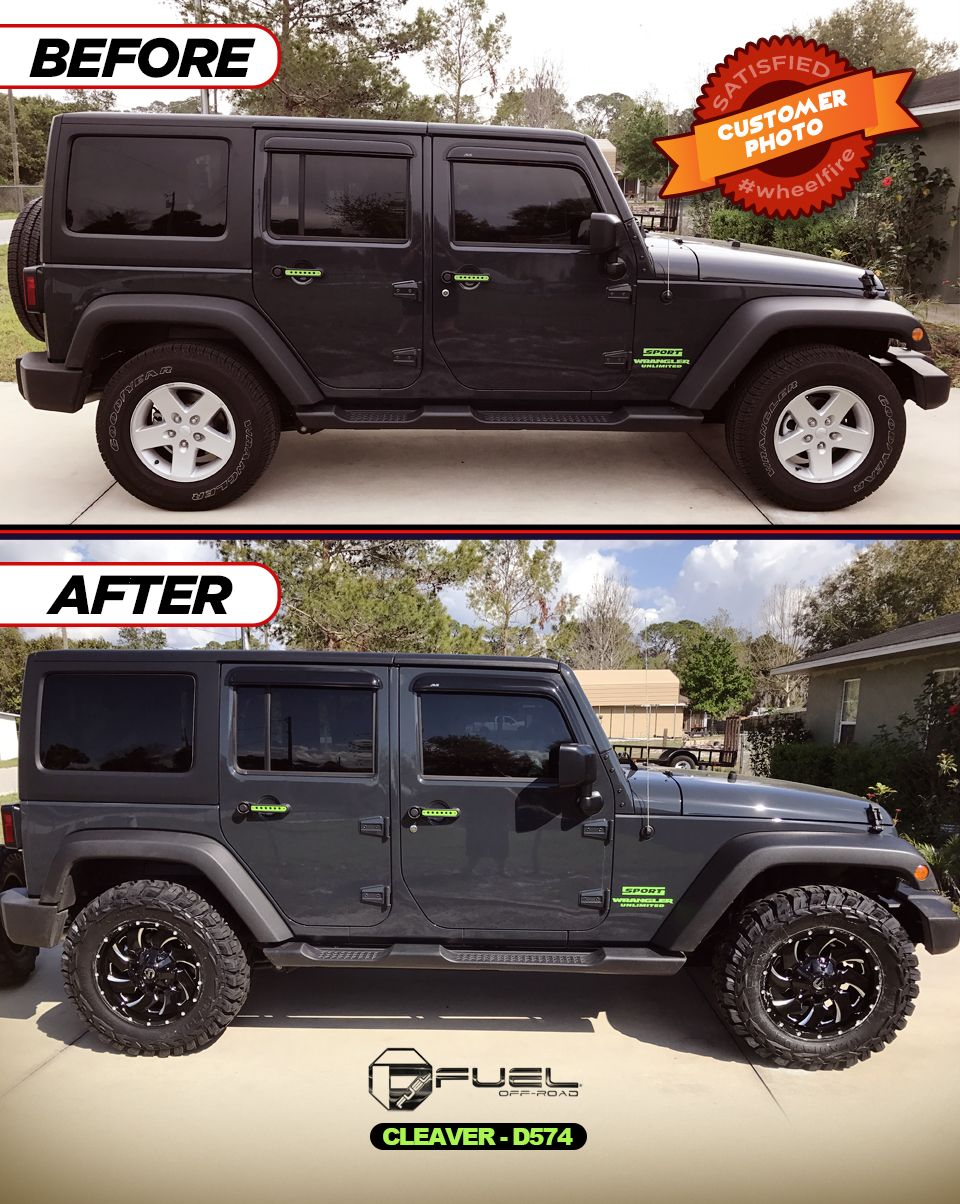 18 Inch Jeep Rims : Congrats, Sending, These, Before, After, Photos, Wrangler, Rocking, 18
