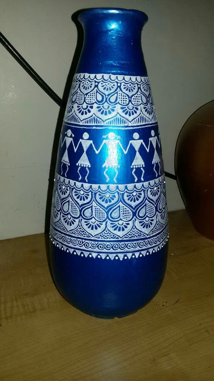 Pot Decorative Design Niharo Mhara Mandana Pottery Painting Art