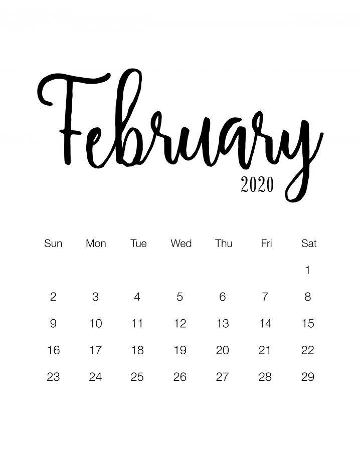 Free Printable 2020 Minimalist Calendar - The Cottage ...