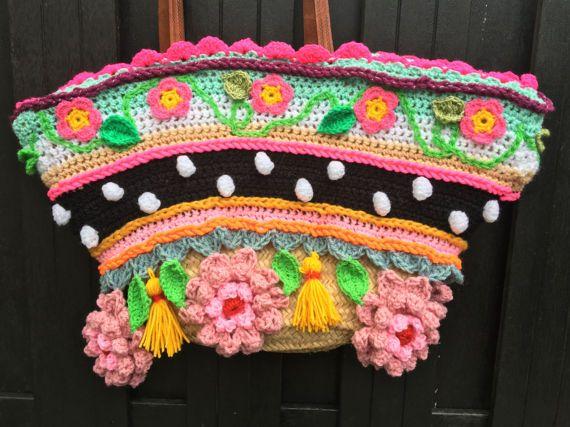NL/UK/US tutorial crochet pattern bag tas haakpatroon gehaakte tas ...