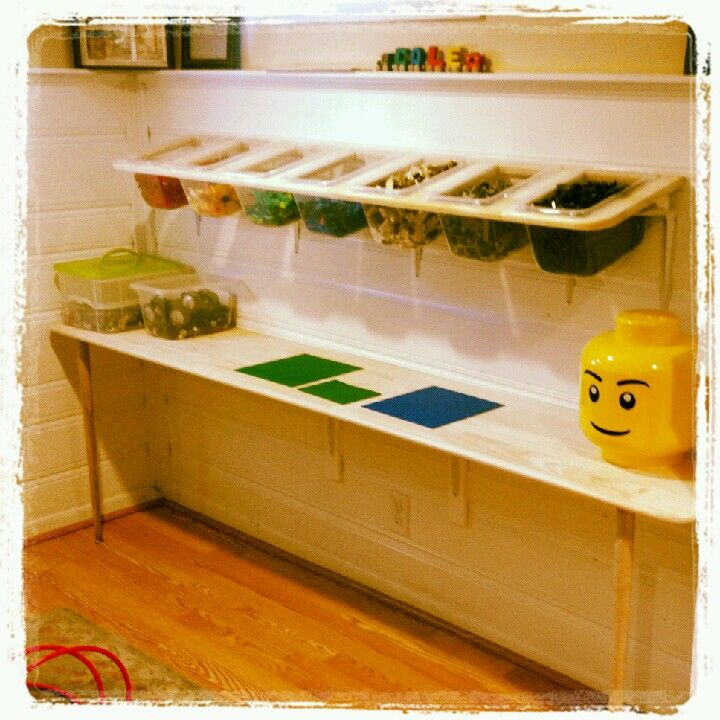 Genial This Is A Custom #Lego Table And Shelf I Built For My Son With Basic  Materials.