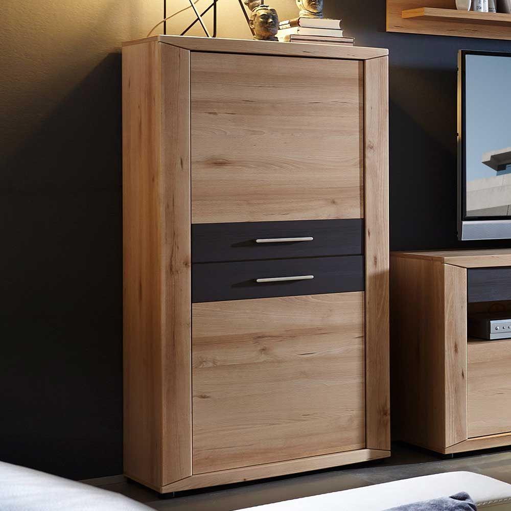 seitenschrank in buche grau 140 cm hoch jetzt bestellen unter. Black Bedroom Furniture Sets. Home Design Ideas