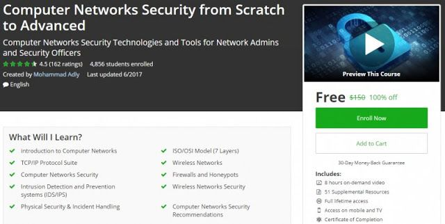 100% Off] Computer Networks Security from Scratch to Advanced