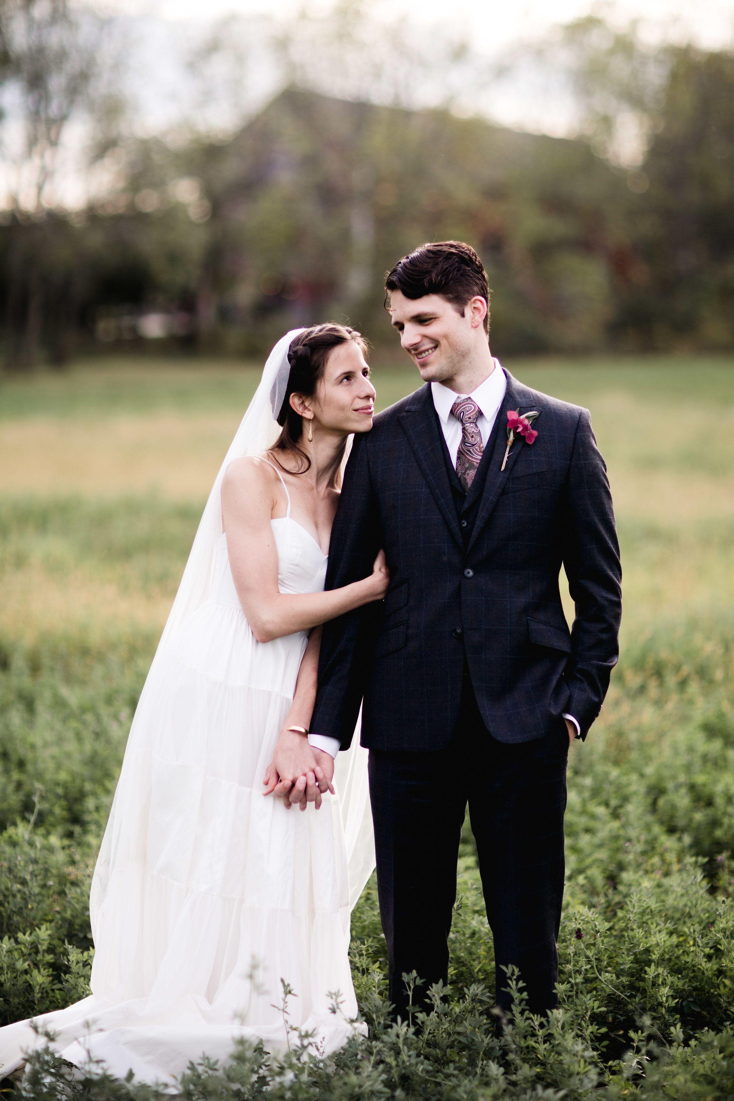 Nature wedding dress  Fall Meadow Wedding  Natural Wedding Makeup look  Spaghetti