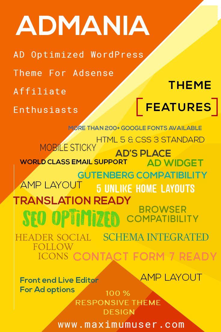 Best AD & AdSense WordPress Themes Provider
