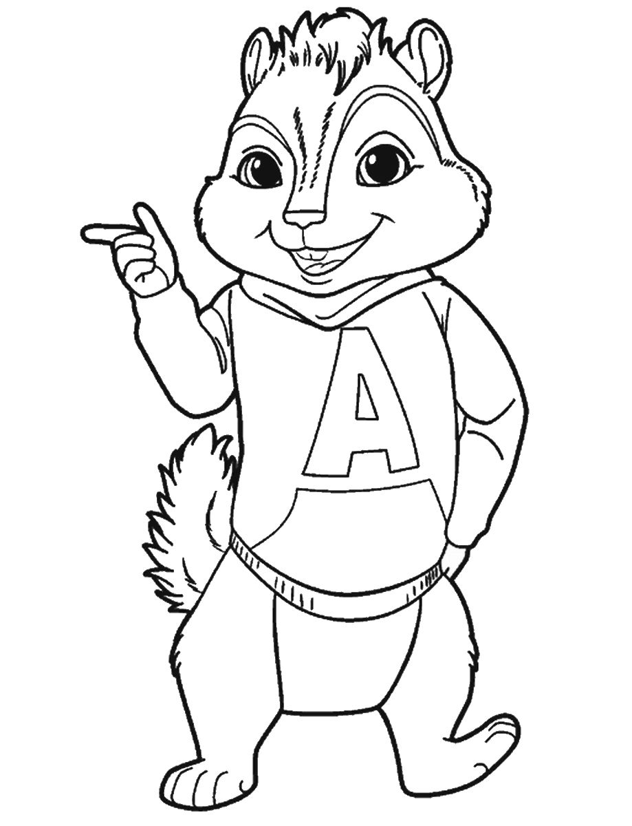 Alvin and the Chipmunks Coloring Pages Gallery in 2020