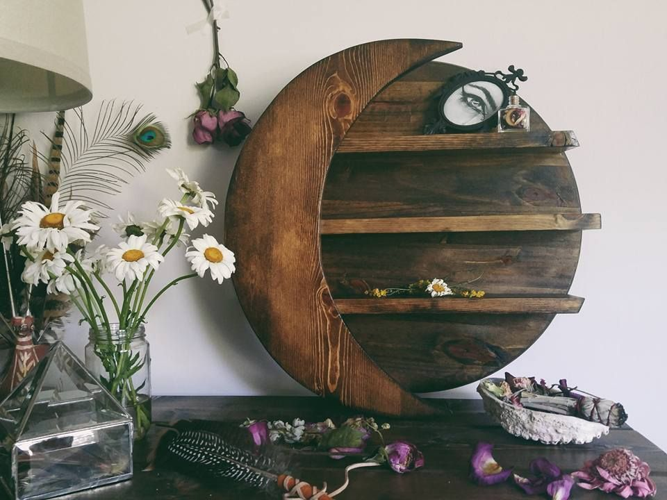 Crescent Moon Shelf Via Wooden Ophelia Click On The Image