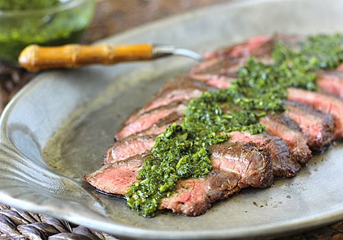 Grilled Flank Steak with Chimichurri Sauce: So much flavor in one simple dish.