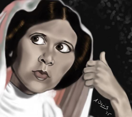 """Carrie Fisher as Princess Leia in """"Episode IV: A New Hope"""""""