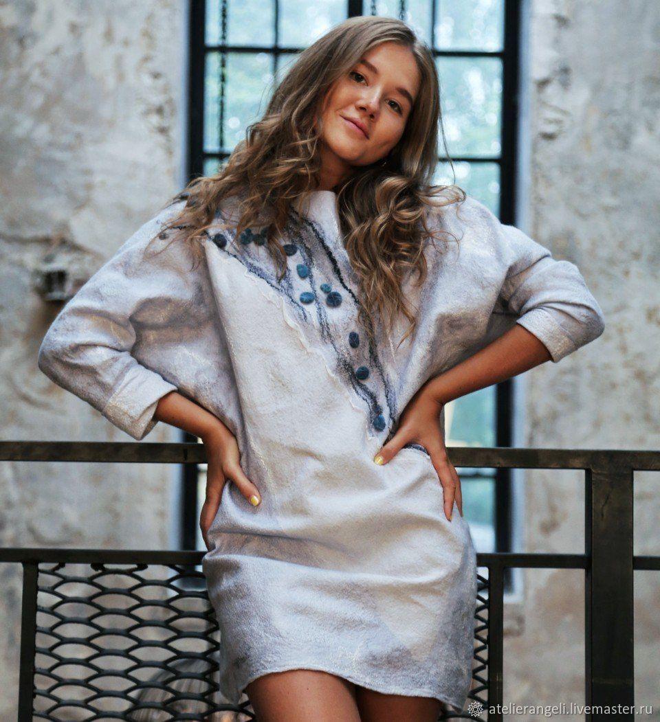 3f9b1807b94 Валяное платье туника - купить или заказать в интернет-магазине на Ярмарке  Мастеров - DG7MXRU. Москва