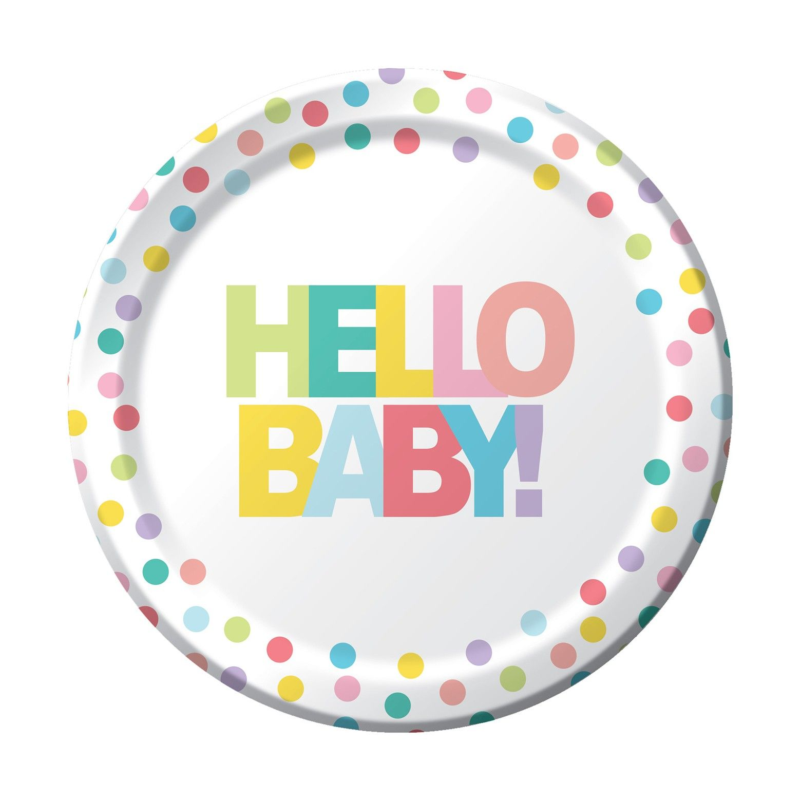 sc 1 st  Pinterest & 10ct Dinner Plate Multicolored Hello Baby Printed Dinner Plate - Spritz™