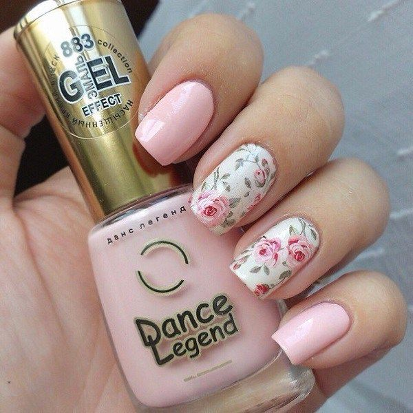 Simple Rose Nail Art Designs 2017 - Styles 2d | Nagels | Pinterest ...