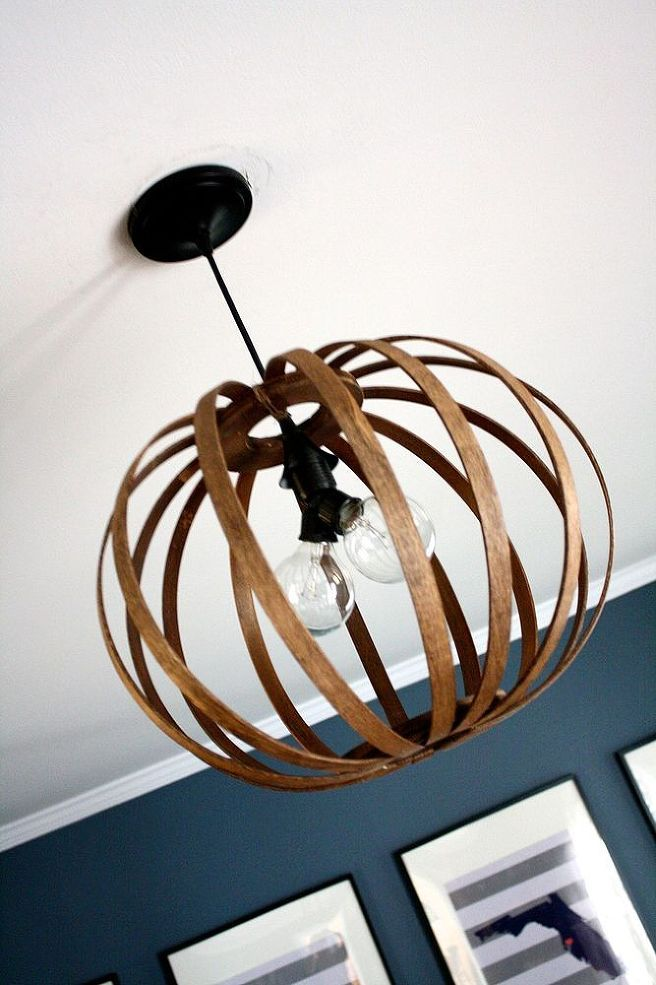west elm bentwood pendant light knock off made from quilting hoops crafts home decor lighting repurposing upcycling & Bentwoid light | Loft Living | Pinterest | Pendant lighting ...