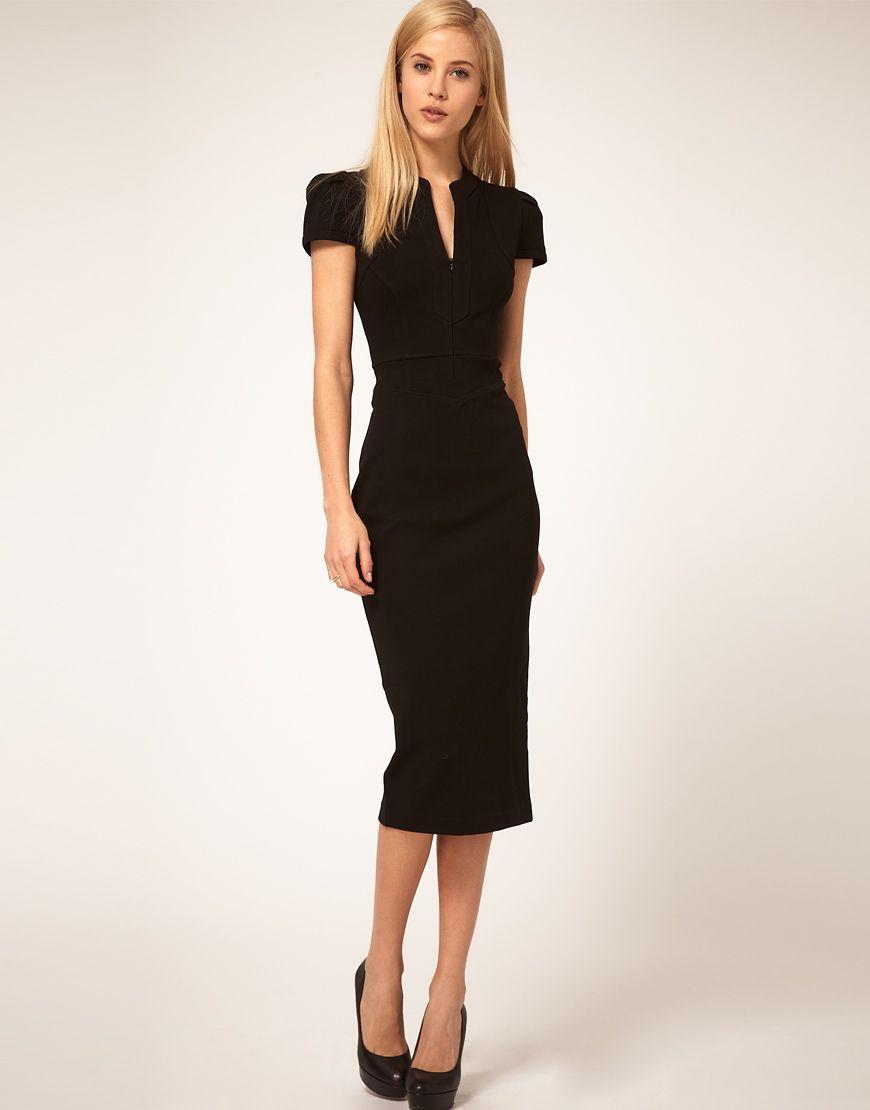 3cd4945fe24 Черное платье-футляр (65 фото)  с чем носить