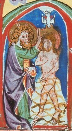Taufe Jesu Antiphonarium Et Hymnarium Cisterciense 1350