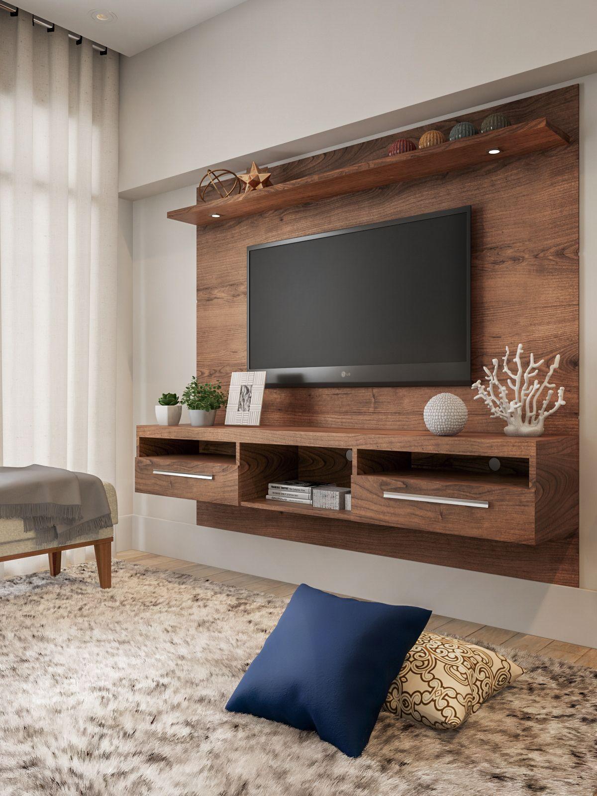 Painel para TV 60 Polegadas Toledo Ipê 182 cm em 2020