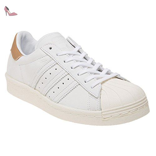 Adidas Womens Superstar 80s Off White Nubuck Leather