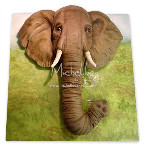 Elephant Cake cakepinscom Realistic Cake Pinterest Elephant