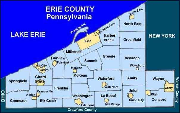 Map Of Erie Pa erie, pa | Erie County Pennsylvania Township Maps | Places I've