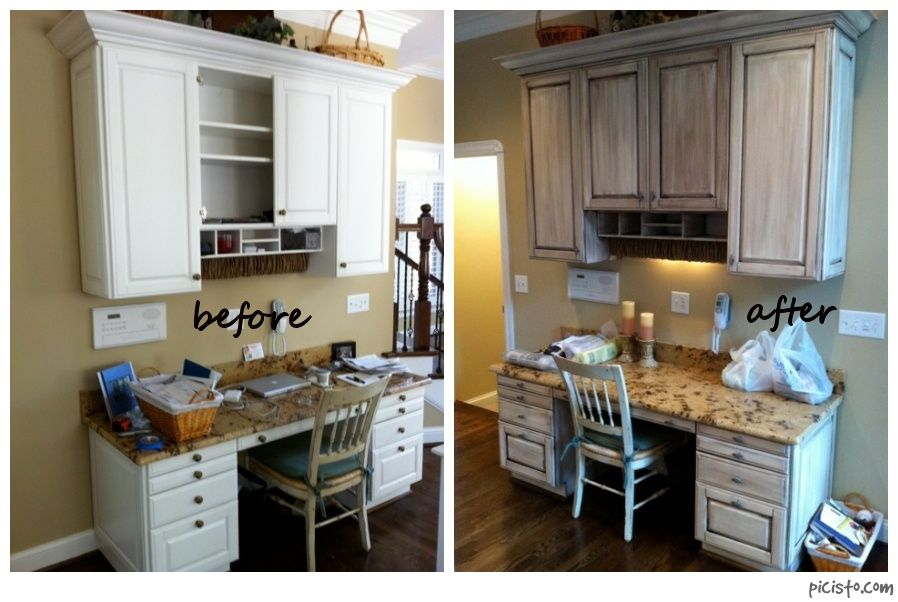 Fresh Painting Melamine Kitchen Cabinets Before And After