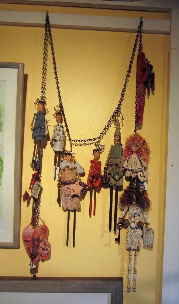Art dolls by Meta Strick on display at Grand Isle Art Works in Grand Isle, VT