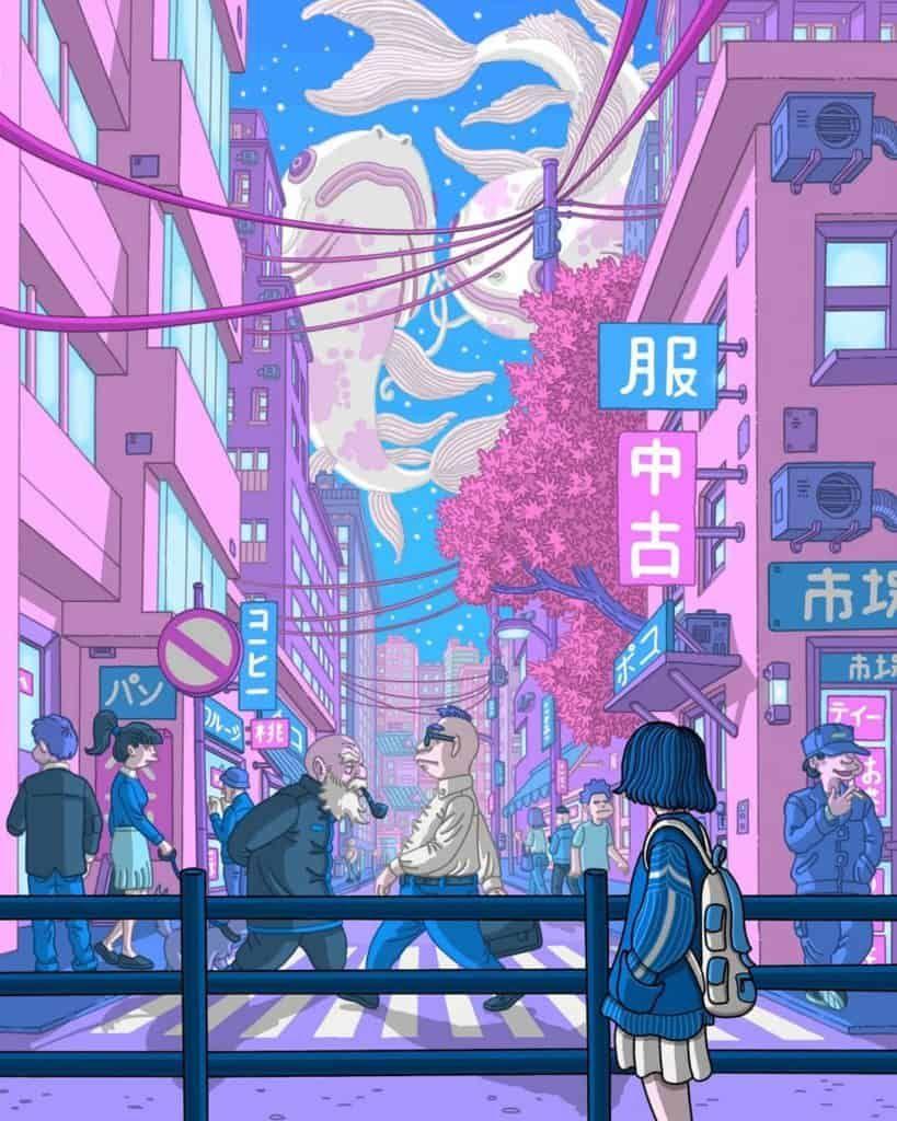 Illustrator Daniele Turturici In 2020 Aesthetic Japan Aesthetic Art Aesthetic Drawing