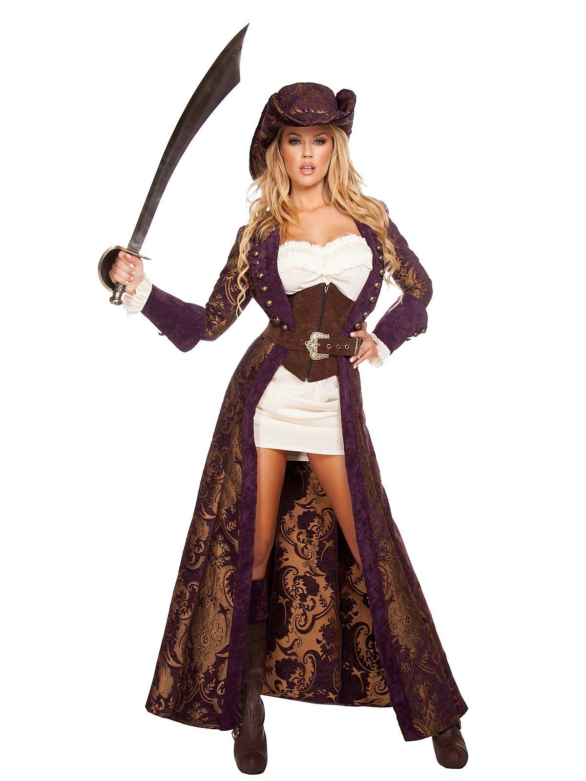 Women's Sexy Decadent Pirate Diva Costume | Wholesale Pirate ...