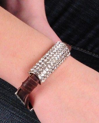 Leather & Rhinestone Bracelet | The Clothing Cove