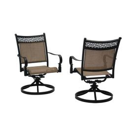 Shop Garden Treasures Potters Glen Aluminum Swivel Rocker Patio Dining  Chairs (Set Of At Loweu0027s Canada. Find Our Selection Of Outdoor Dining Chairs  At The ...