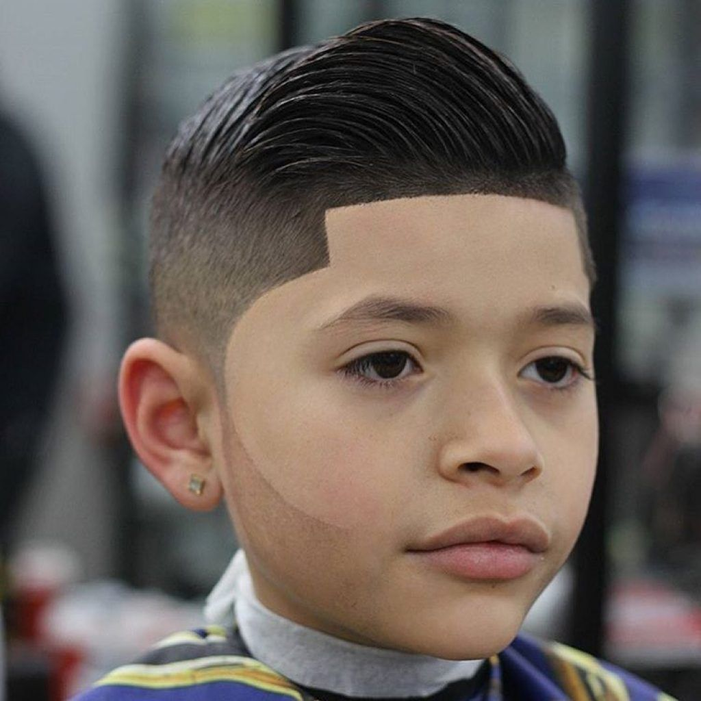 Boys faded haircuts