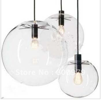 25 cm european modern creative glass ball pendant light chandeliers ceiling lamp
