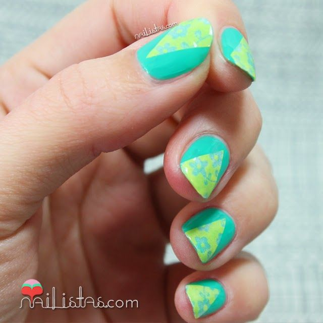 Decoración de uñas fácil con Washi Tape | Nail Art | Nail Arts ...