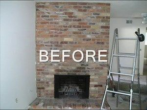 Fireplace Refacing From Brick To Tile, How To Resurface A Brick Fireplace With Tile