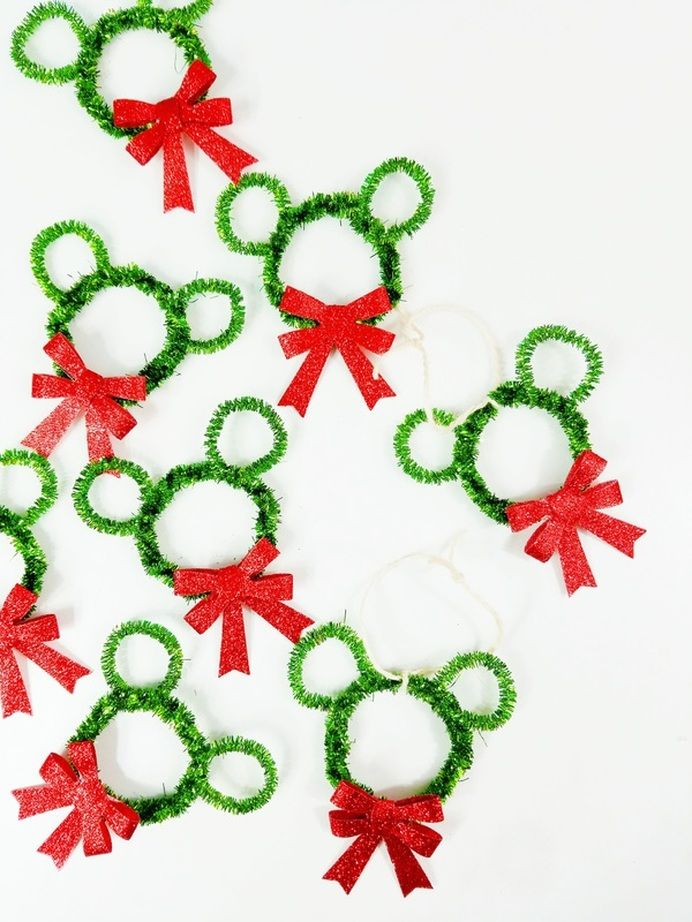 DIY Mickey Mouse Wreath Ornaments | A Waltz Through Disney | fish ...