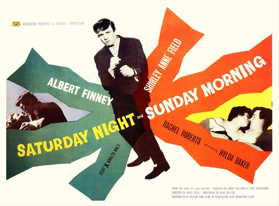 Image result for saturday night and sunday morning film poster