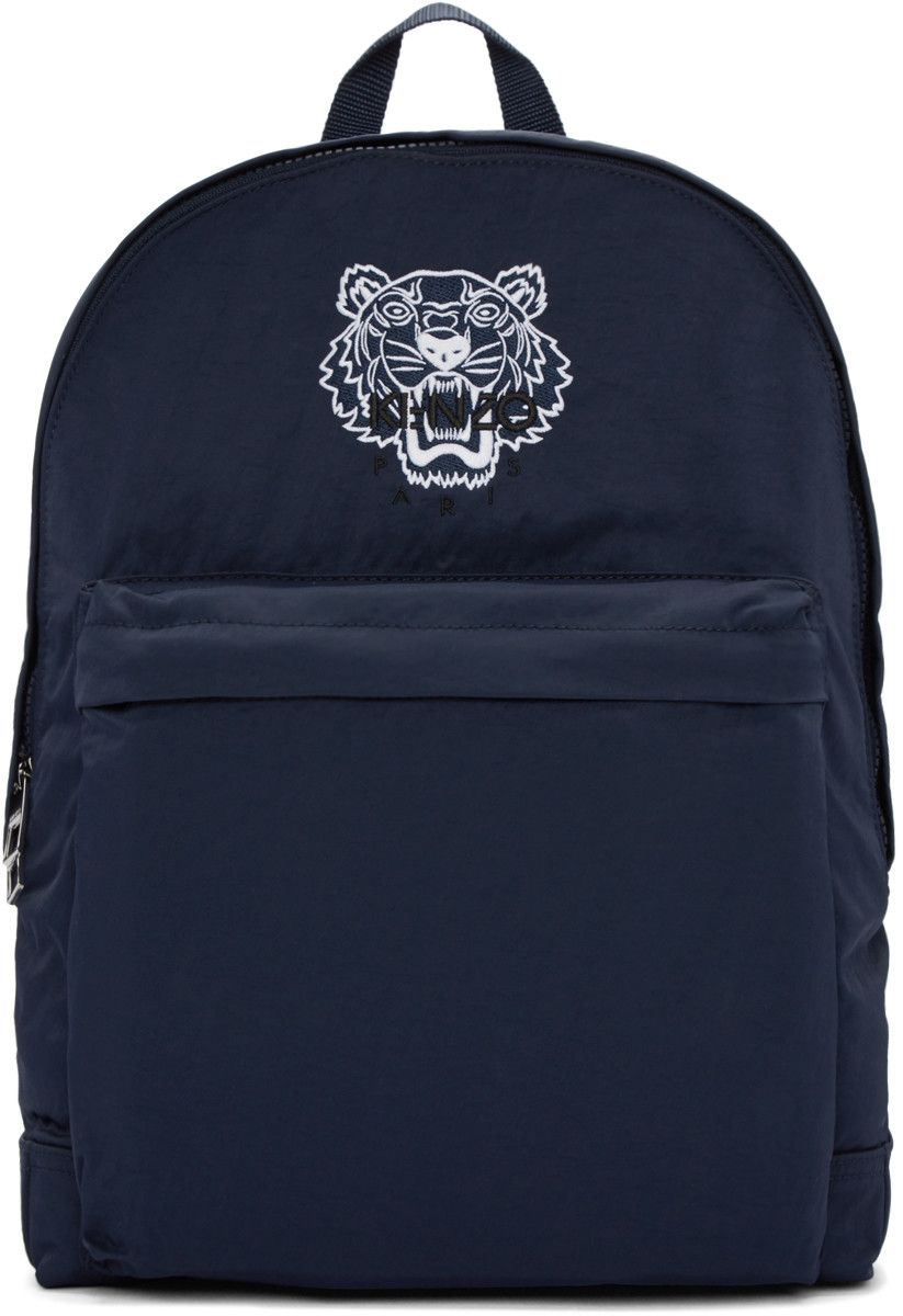 d1b8a8f1 Kenzo - Blue Nylon Tiger Backpack | Bags | Backpacks, Backpack bags ...