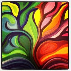Bright Colorful Abstract Paintings