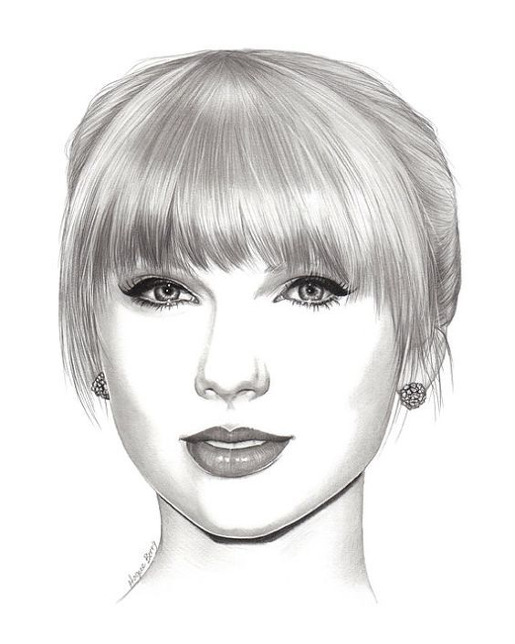 Image Result For Easy Celebrity Drawings Celebrity Drawings Taylor Swift Drawing Celebrity Portraits