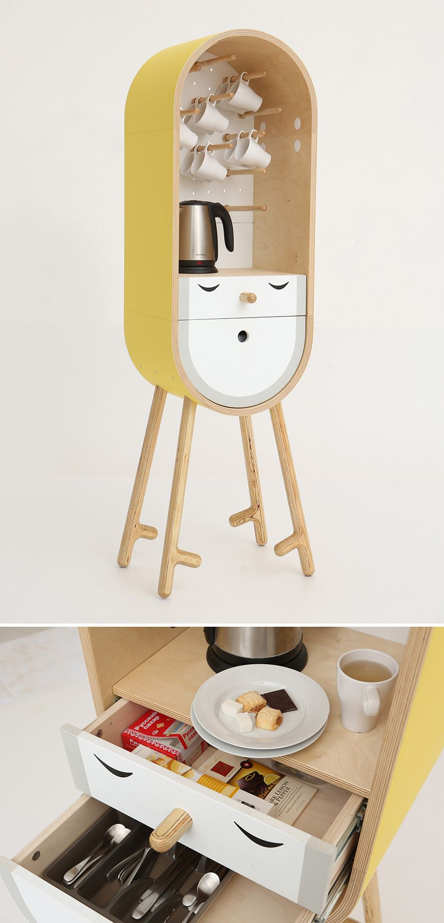 The capsular micro kitchen.Aotta studio has developed a project of a moveable capsular microkitchen/bar for home, office and hotel use.           — LOLO byAotta studio