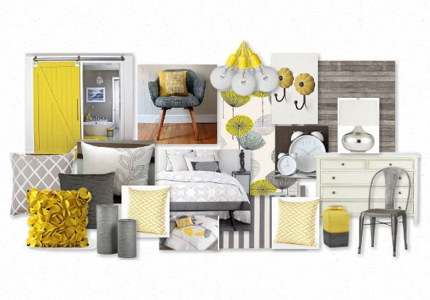 Grey  Yellow Color Scheme - Grey + Yellow Pinterest Grey