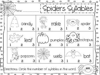 Spider Syllables   teach: fall.   Pinterest   Syllable, Literacy ...