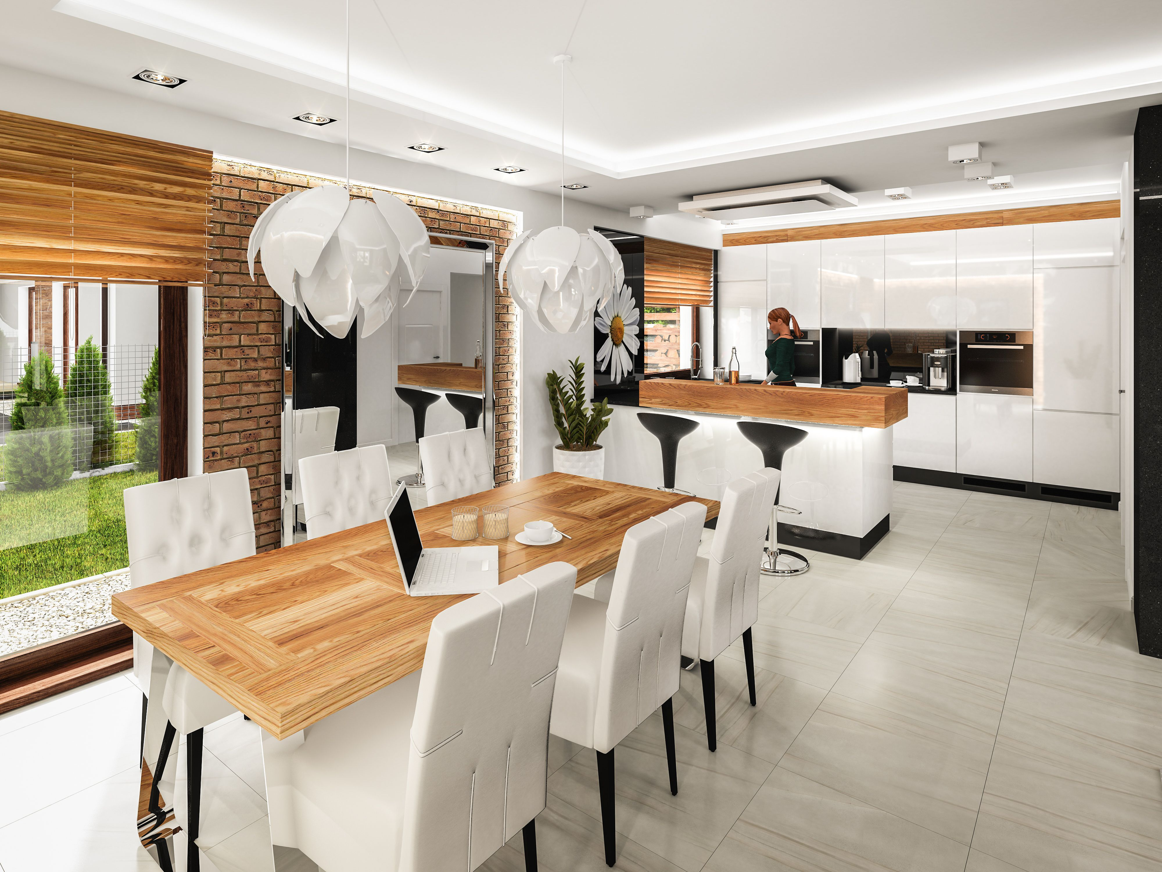 Martines Pila Pl Jadalnia Z Otwarta Kuchnia Decor Home Home Decor
