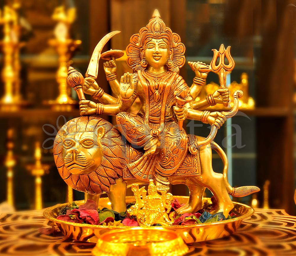 Durga idol in brass copper finish in 2020 ancient indian